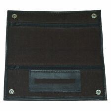 Factory Second Brown Canvas Tobacco Pouch Rubber Lined And Paper Holder