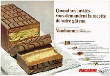 Publicité Advertising 1968  (2 pages) Gateau Vadamme Patissier Florentin