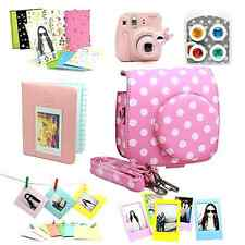 Fujifilm Instax Mini 8 Instant Camera Accessory Bundles Set Color Lens Pink New