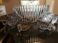 Uber Rare Antique 10 Cup Punch Bowl Set
