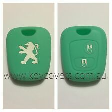 PEUGEOT TIFFANY GREEN 206 307 SILICONE CAR KEY COVER CASE HOLDER NEW ACCESSORIES