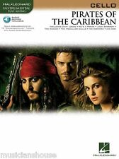 PIRATES OF THE CARIBBEAN Music Book for CELLO BACKING TRACKS AUDIO FILM SONGS