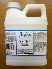 Angelus Brand 2-Thin acrylic leather paint thinner Pint Size/16oz