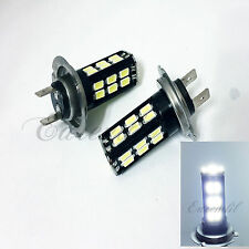 H7 Samsung Chip 30 SMD LED White Headlight #s15 Bulb High or Low Beam For Bike