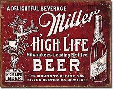 Miller tenuta a si prega di birra bar High Life stagno metallico segno DECOR VINTAGE BAR PUB