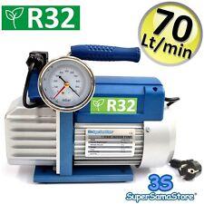 3S POMPA del VUOTO MONOSTADIO 70 LT min PER GAS R32 R1234YF CLIMATIZZATORE NUOVA
