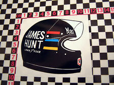 James HUNT casque autocollant