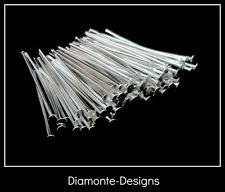 100 Pcs - 18mm Silver Plated Head Pins Jewellery FREE UK P+P B31