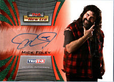 TNA Mick Foley 2010 Tristar New Era GREEN Authentic Autograph Card SN 11 of 25