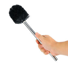 Replacement stainless steel + plastic WC Bathroom Cleaning Toilet Brush black