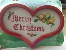 Vintage New Berlin Country Christmas Embroidery Kit New in Pkg Heart frame