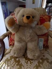 "J C PENNEY 1995 HUGE Super Soft Plush Brown 22"" Teddy with Arms Up to Hug"
