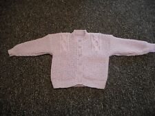 HAND KNITTED GIRLS CARDIGAN TO FIT 24'' CHEST