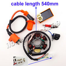 GY6 49cc 50cc Magneto Stator Racing Ignition Coil CDI Spark Plug Scooter Moped