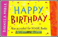 BARNES & NOBLE USA ACCEPTED FOR NOOK BOOKS HAPPY BIRTHDAY COLLECTIBLE GIFT CARD