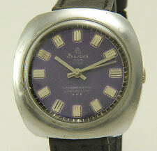 BOURBON 23rd Street Super DeLuxe Purple Dial Manual Wind Gents Watch 2FIX (T37)