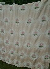 Vintage Set of Two Bates Cotton Bedspreads Shabby Roses Chic Matching Full Size