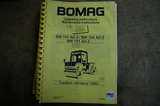 BOMAG BW 241 151 Roller Compactor Owner Operator Operation Maintenance Manual ad