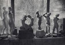 "BOGO!!! Brassai 1930s Antique Photogravure ""Maillol's Famous Studio"" Framed COA"