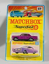 Matchbox US Issue Fred Bronner: 22 Pontiac Coupe. Card box/blister card. 60's