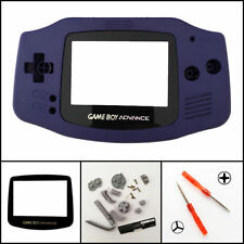 GBA Nintendo Game Boy Advance Replacement Housing Shell Screen Lens Indigo USA!