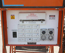 Temporary Site Power distribution board 1x20A 12 Single + 1x32A 3 phase outlets
