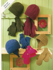 / kid  adult  knitting  PATTERN  hats gloves age 1yr  to adult dk