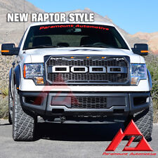 09-14 Ford F-150 Paramount 2017 Raptor Style Front Bumper+ABS Mesh Grille Combo