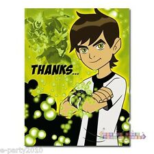BEN 10 THANK YOU CARDS (8) ~ Birthday Party Supplies Stationery Cards Notes CN