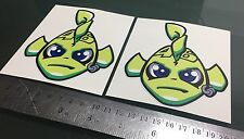 Valentino Rossi Fish - VR46 Misano Fish - DECALS STICKERS (110mm x 97mm) X2