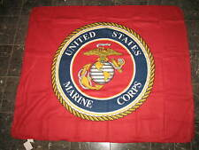 USMC Marines Marine Corps Seal Flag 50x60 Red Polar Fleece Blanket Throw