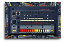 24x36 ROLAND TR-808 DRUM MACHINE POSTER TR-8 Electro Hip-Hop Print OLD SCHOOL