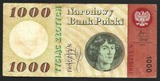 Poland Polski Banknote - 1000 Zlotych - 1965 - Old Rare - Looook !!