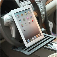 Car iPad Support Clip Steering Wheel Tray Drink Holder Desk Table