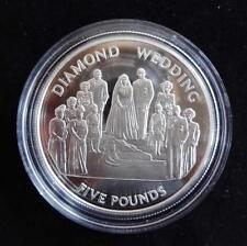 2007 argento PROOF ALDERNEY £ 5 moneta + COA Queens diamante wedding la WEDDING DAY