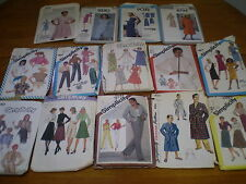 Clearance  Lots 14 Vintage Sewing Patterns Patron Couture Simplicity