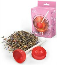 Sweet Tea Infuser Loose Leaf Leaves Steeper Silicone Lollipop Strainer Fred