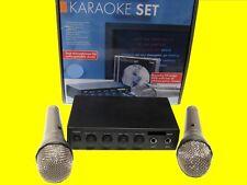 Mesa de mezclas/amplificador y karaoke/2 micrófonos/DVD (12 voltios) también para carnaval-mudanza