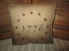 Primitive Stenciled Pillow - 1776 - ring of stars