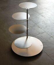 ALLUMINIO Supporto A TORTA MATRIMONIO 4/5 piani Torta Compleanno Alluminio Qualità Professionale