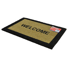 WELCOME COIR DOOR MAT INDOOR OUTDOOR ENTRANCE RECEPTION RECTANGULAR 40x60 CM UK