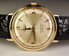 Longines 14K Gold Grand Prize 340 17j Automatic Vintage 1961 Swiss Watch Leather