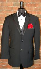 MENS 46 R  CALVIN KLEIN ASTON 2 BUTTON NOTCH SUPER 100'S WOOL TUXEDO JACKET