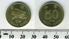 Hong Kong 1998 - 50 Cents Brass Plated Steel Coin - Bauhinia Flower