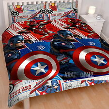 Captain America Civil War DOUBLE Rotary Duvet Cover Bed Set New Gift Iron Man