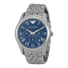 Emporio Armani Classic Navy Blue Dial Stainless Steel Mens Watch AR1787