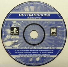 Jeu ACTUA SOCCER Club Edition sur playstation 1 ps1 one francais sport foot ball