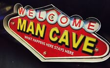 MAN CAVE LED Metal Sign Vintage Look. PERFECT FOR GAME ROOM, MAN CAVE, BAR