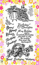 FLONZ Flowers Dance // Happy Birthday Wishes unmounted clear acrylic stamp 305