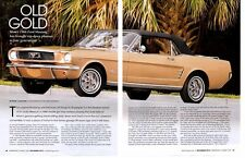 1966 FORD MUSTANG CONVERTIBLE 289 ~ GREAT 4-PAGE ARTICLE / AD